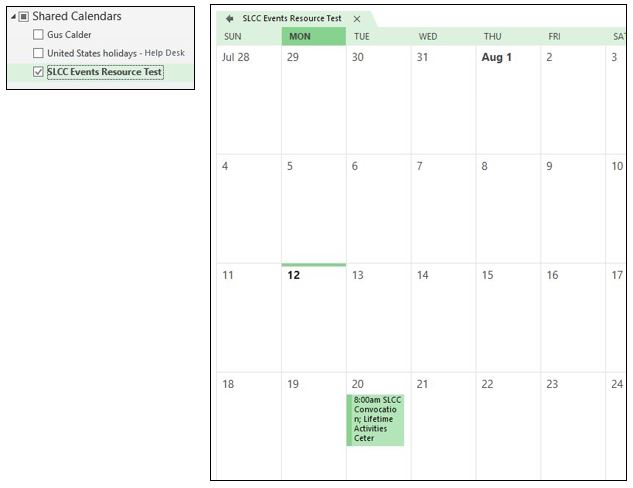 Image of shared calendar