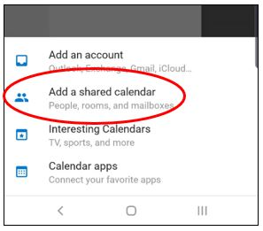 Image of additional calendar options.