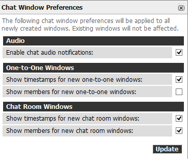 Chat Window Preferences