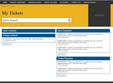My Tickets Page