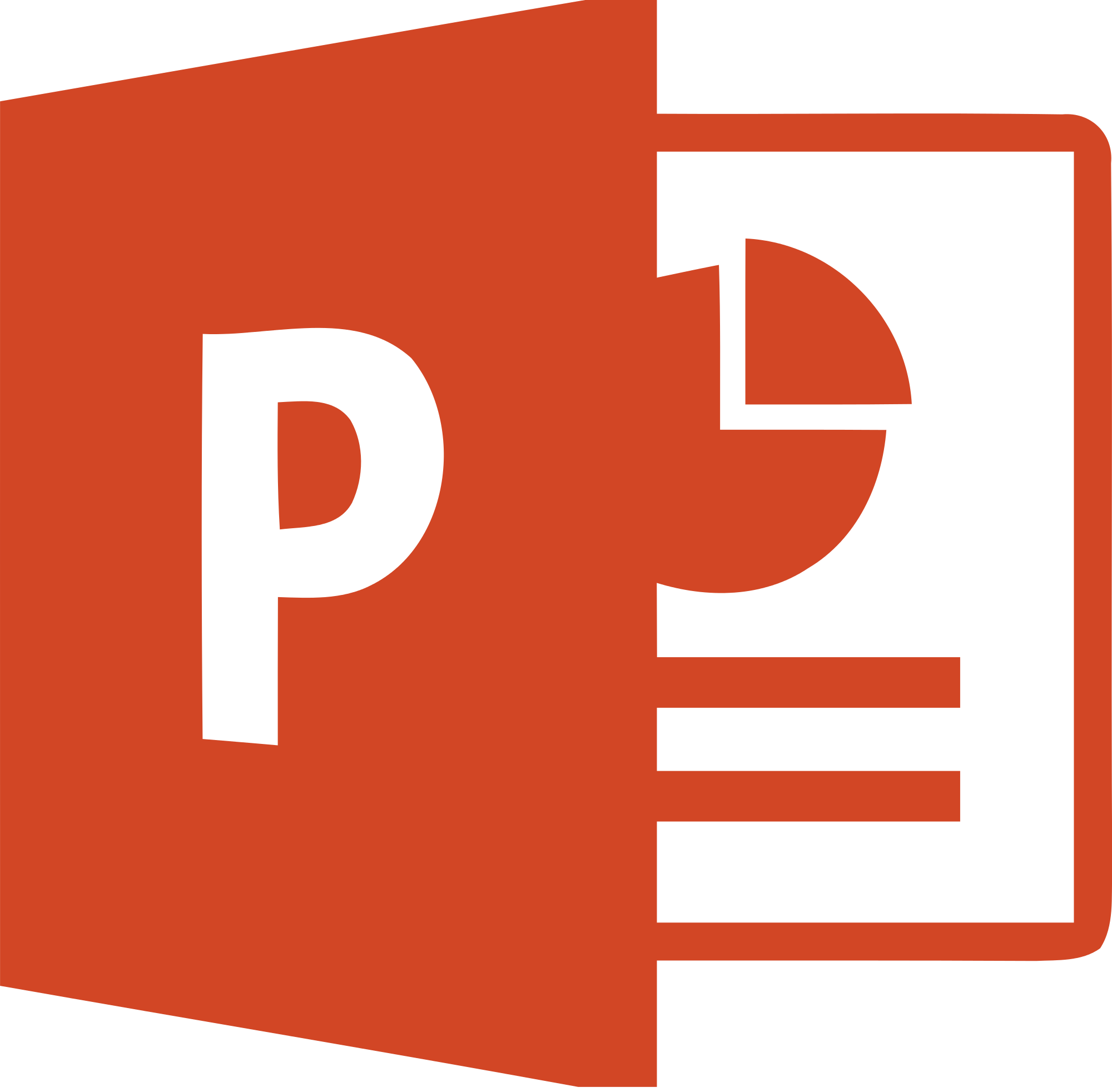 MS Office 2013 PowerPoint Logo