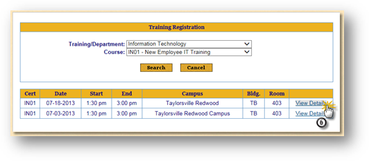 Training Registration IT Training Classes