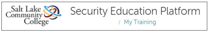 Image of the top pf the Security Education Platform page