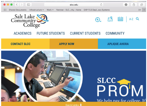 Image shows SLCC.edu