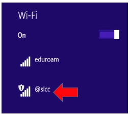 Image shows @slcc wifi network
