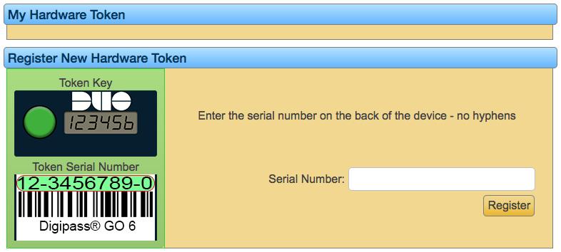 token regiszter